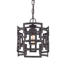 Garriston 1 Light Pendant In Clay Iron