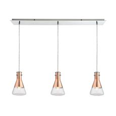 Olean 3 Light Pendant In Polished Chrome