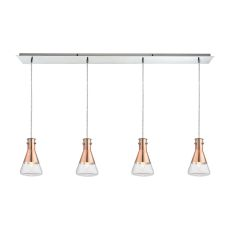 Olean 4 Light Pendant In Polished Chrome