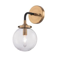 Boudreaux 1 Light Wall Sconce In Matte Black And Antique Gold