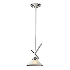 Refraction 1 Light Pendant In Polished Chrome