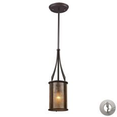 Barringer 1 Light Pendant And Tan Mica With Adapter Kit