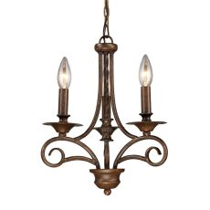 Gloucester 3 Light Chandelier In Weathered Bronze