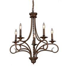 Gloucester 5 Light Chandelier In Weathered Bronze