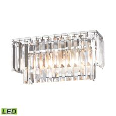 Palacial 2 Light Led Vanity In Polished Chrome