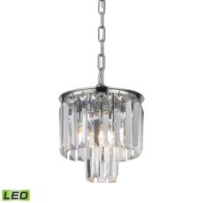Palacial 1 Light Led Pendant In Polished Chrome