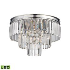 Palacial 3 Light Led Semi Flush In Polished Chrome