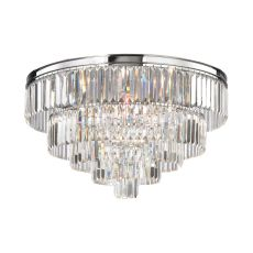 Palacial 6 Light Chandelier In Polished Chrome