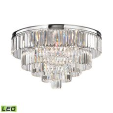 Palacial 6 Light Led Chandelier In Polished Chrome