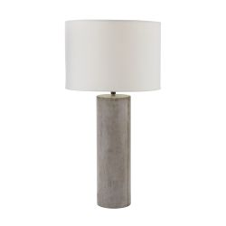 Cubix Round Desk Lamp In Natural Concrete