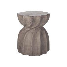 Industrial Warp Side Table, Waxed Concrete