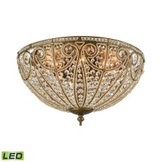 Elizabethan 8 Light Led Flush In Dark Bronze