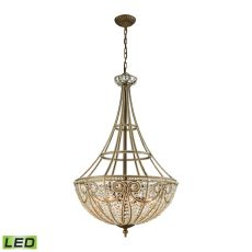 Elizabethan 8 Light Led Pendant In Dark Bronze