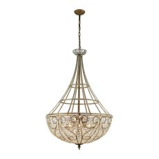 Elizabethan 10 Light Pendant In Dark Bronze