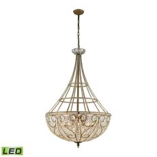 Elizabethan 10 Light Led Pendant In Dark Bronze