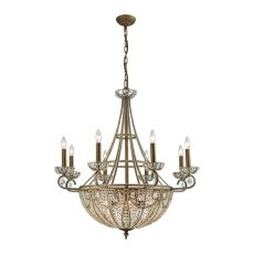 Elizabethan 14 Light Chandelier In Dark Bronze