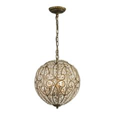 Elizabethan 5 Light Pendant In Dark Bronze