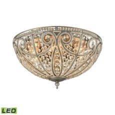 Elizabethan 6 Light Led Flush In Weathered Zinc