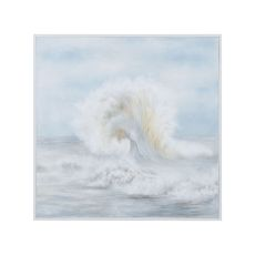 Ocean Spray Wall Decor, Grain De Bois Blanc, Original Art