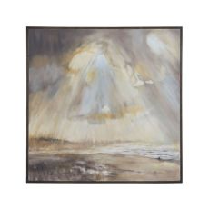 Sun Rays Wall Decor, Heritage Grey Stain, Original Art