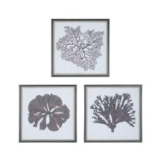 Taupe Corals Wall Decor, Coco Black, Original Art