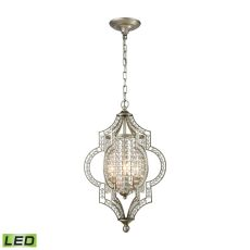 Gabrielle 3 Light Led Chandelier In Aged Silver