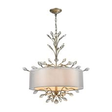 Asbury 4 Light Chandelier In Aged Silver