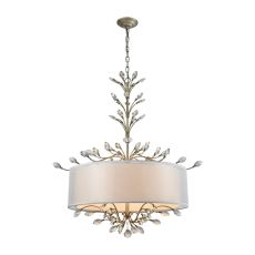 Asbury 6 Light Chandelier In Aged Silver