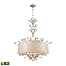 Asbury 6 Light Led Chandelier In Aged Silver