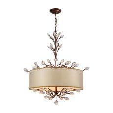 Asbury 4 Light Chandelier In Spanish Bronze