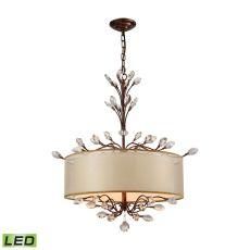 Asbury 4 Light Led Chandelier In Spanish Bronze