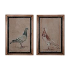 Rock Doves Wall Decor, Original Art