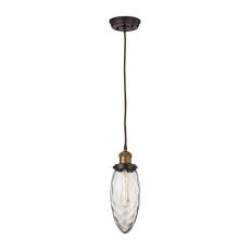 Owen 1 Light Pendant In Oil Rubbed Bronze And Antique Brass
