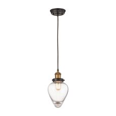 Bartram 1 Light Pendant In Oil Rubbed Bronze And Antique Brass