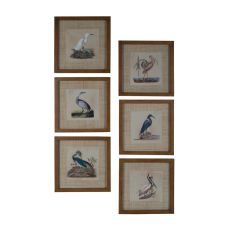 Tropical Water Birds Wall Decor, Original Art