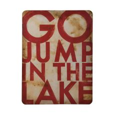 Go Jump In The Lake Wall Decor, Original Art