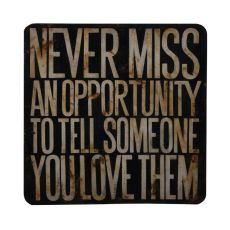 Never Miss An Opportunity Wall Decor, Original Art