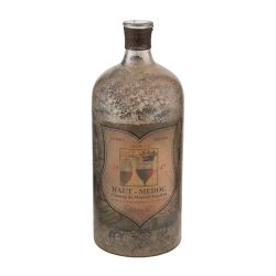 "12"" Aged Mercury Glass Bottle"