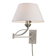 Elysburg 1 Light Swingarm Sconce In Satin Nickel