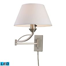 Elysburg 1 Light Led Swingarm Sconce In Satin Nickel