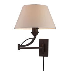 Elysburg 1 Light Swingarm Sconce In Aged Bronze