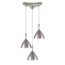 Spun Aluminum 3 Light Pendant In Aluminum