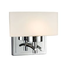 Eastbrook 1 Light Wall Sconce In Polished Chrome And Opal White Glass