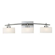 Eastbrook 3 Light Vanity In Polished Chrome And Opal White Glass