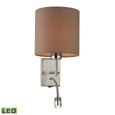 Regina 2 Light Led Wall Sconce In Brushed Nickel