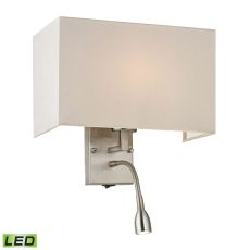 Sconces 2 Light Led Wall Sconce In Brushed Nickel