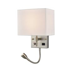 Sconces 2 Light Wall Sconce In Satin Nickel