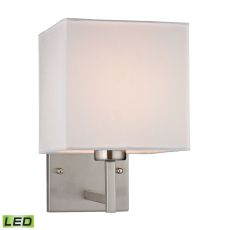 Sconces 1 Light Led Wall Sconce In Brushed Nickel