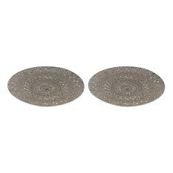 Set Of 2 Pierced Metal Tray