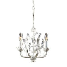 Circeo 3 Light Chandelier In Antique White